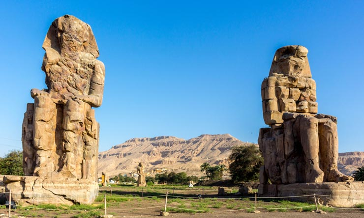 Colossi of Memnon - Trip to Luxor and Abu Simbel from Makadi - Tours from Hurghada