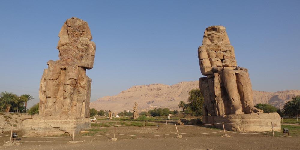 Die Memnon Kolosse - 2 Tägiger Ausflug nach Luxor von EL Gouna - Tours from Hurghada