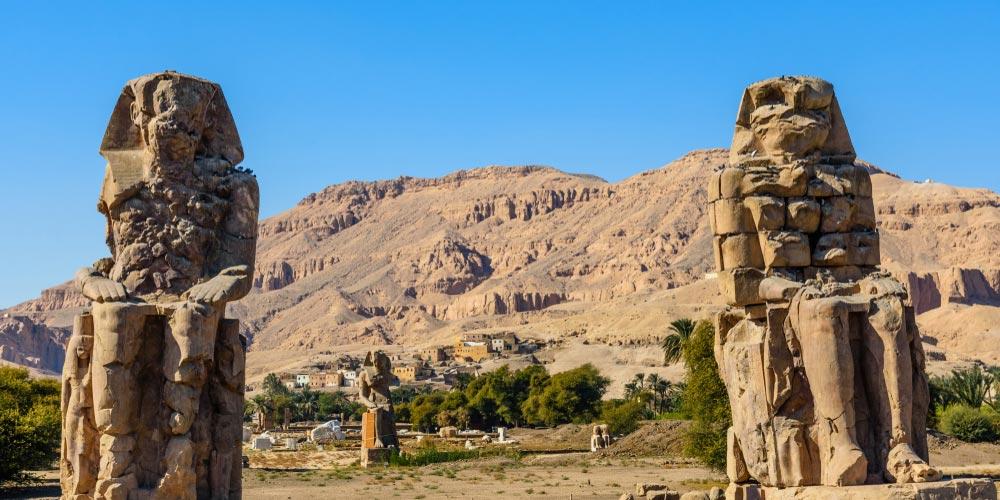Die Memnon Kolosse - 2 Tägiger Ausflug nach Luxor von Makadi - Tours from Hurghada