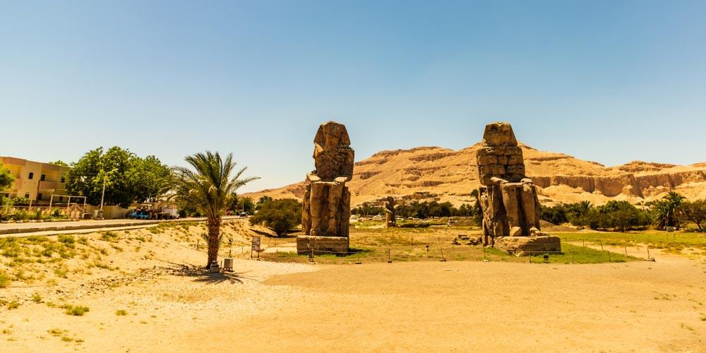 Die Memnon Kolosse - Luxor Tagesausflug von El Gouna - Tours from Hurghada