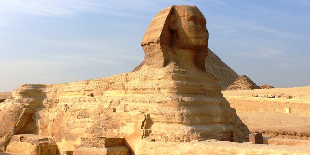 Die Sphinx - Ausflug nach Kairo vonEl Gouna mitFlug - Tours from Hurghada