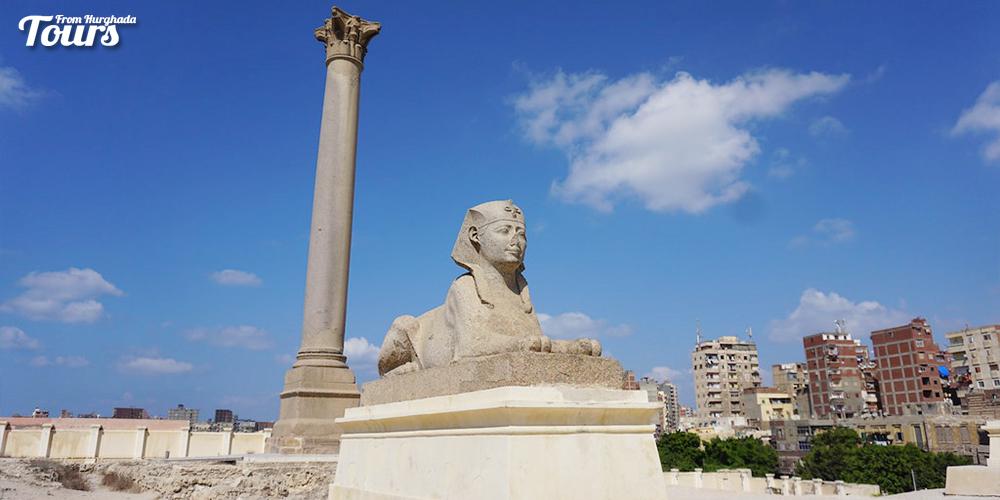 Pompay's Pillar - Alexandria City History - Alexandria City Attractions - Alexandria Activities Tours From Hurghada