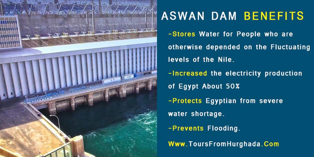 Aswan Dam Benefits - Aswan Dam - Tours from Hurghada