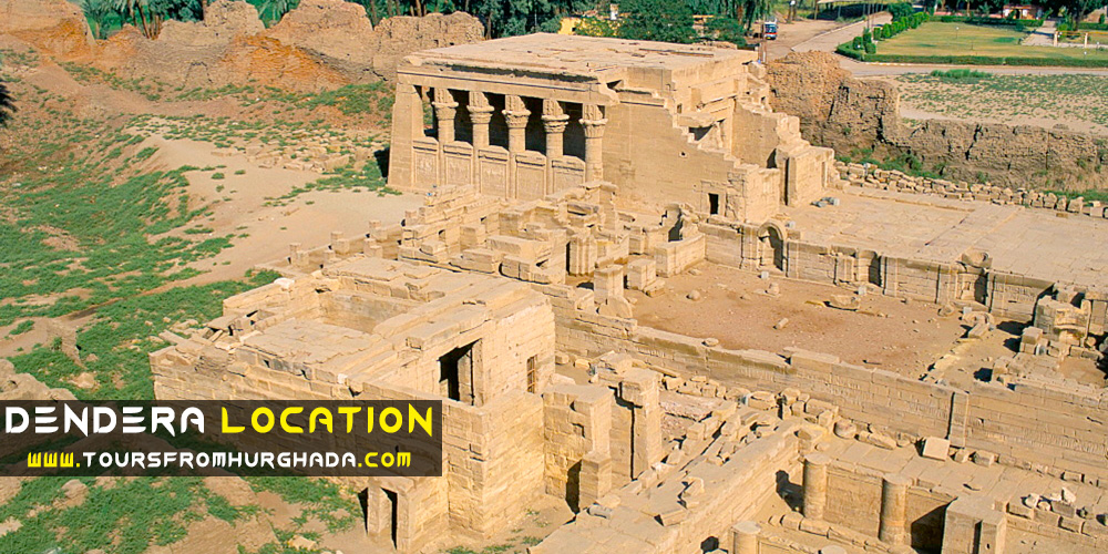 Dendera Location - Dendera Temple - Tours from Hurghada