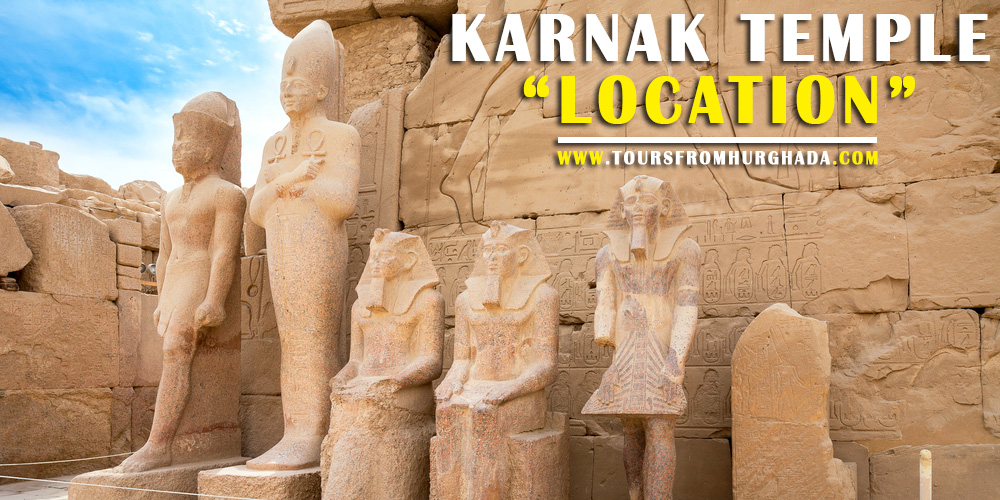 Karnak Temple Location - Tours from Hurghada