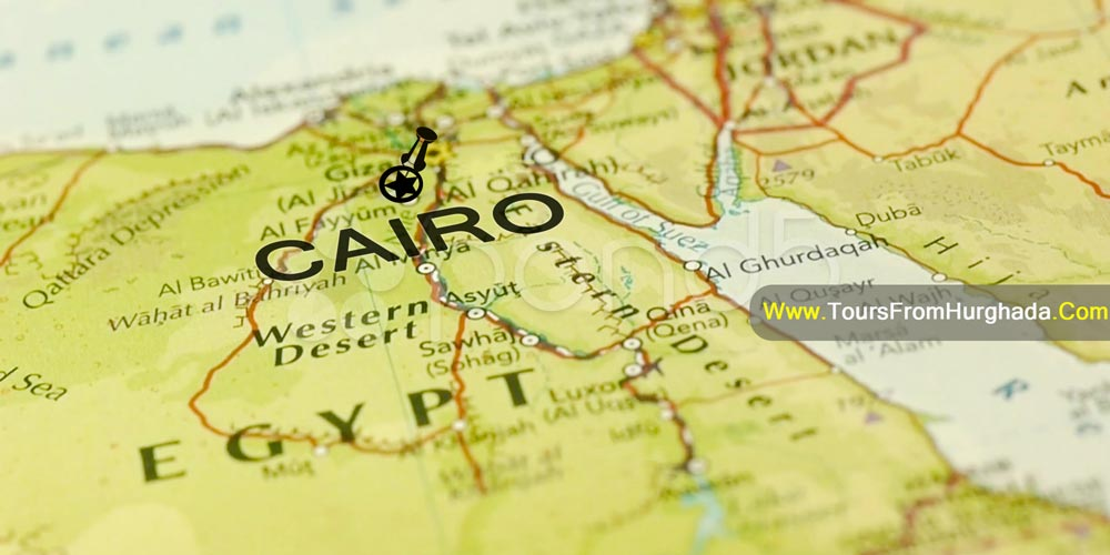 Location of Cairo City - Tours from Hurghada