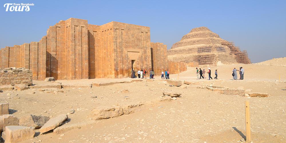 Saqqara Pyramid Design - Saqqara Pyramid Facts - Step Pyramid of Djoser - Tours From Hurghada
