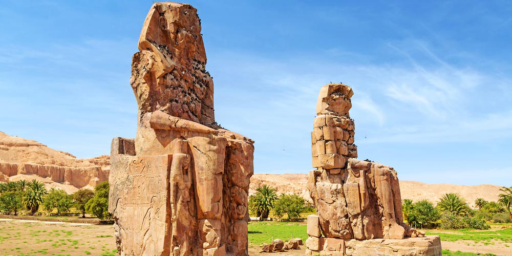 Colossi of Memnon - Luxor Tour from Port Ghalib with Hot Air Balloon - Tours from Hurghada