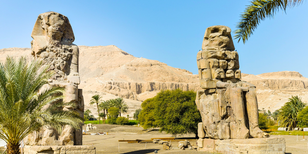 Colossi of Memnon - Trips to Luxor from Port Ghalib - Tours from Hurghada