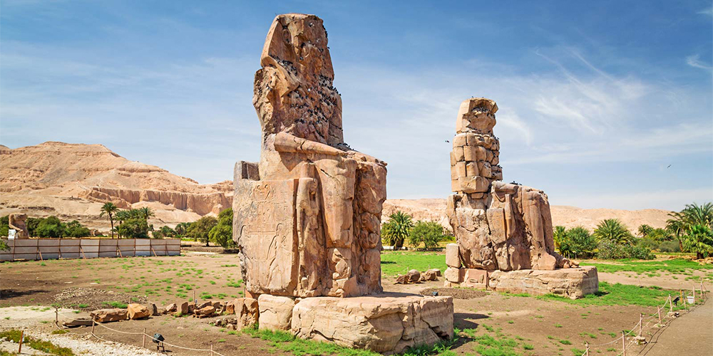 Colossi of Memnon - Day Trip to Luxor From Soma Bay - Tours From Hurghada
