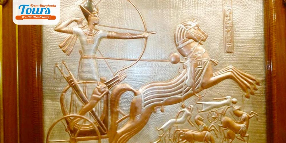 Pharaonic Wall at Nefertari Boat - Tours from Hurghada
