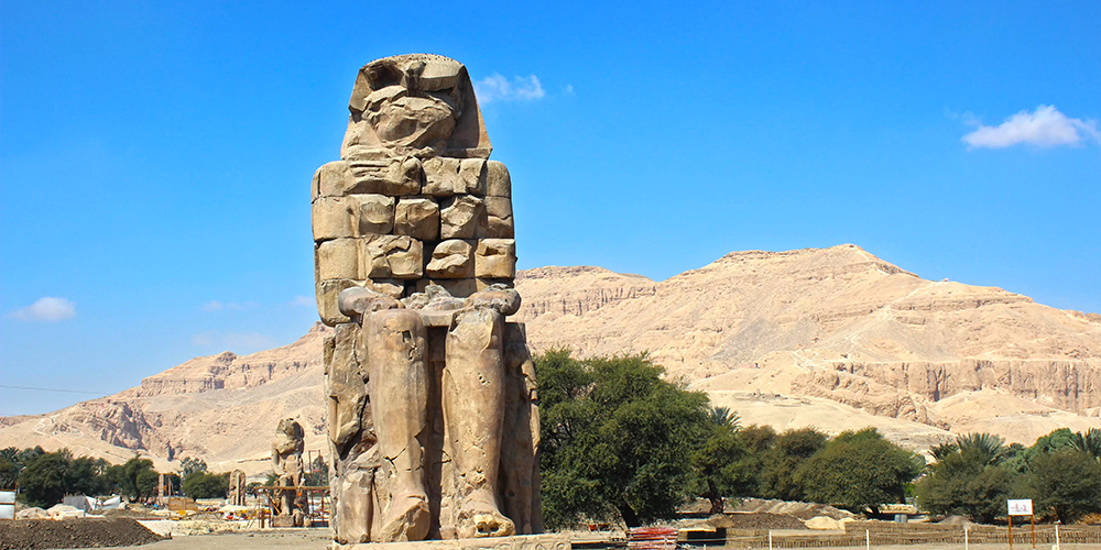 Colossi of Memnon - 10 Days Marsa Alam Holiday with Cairo & Luxor - Tours From Hurghada